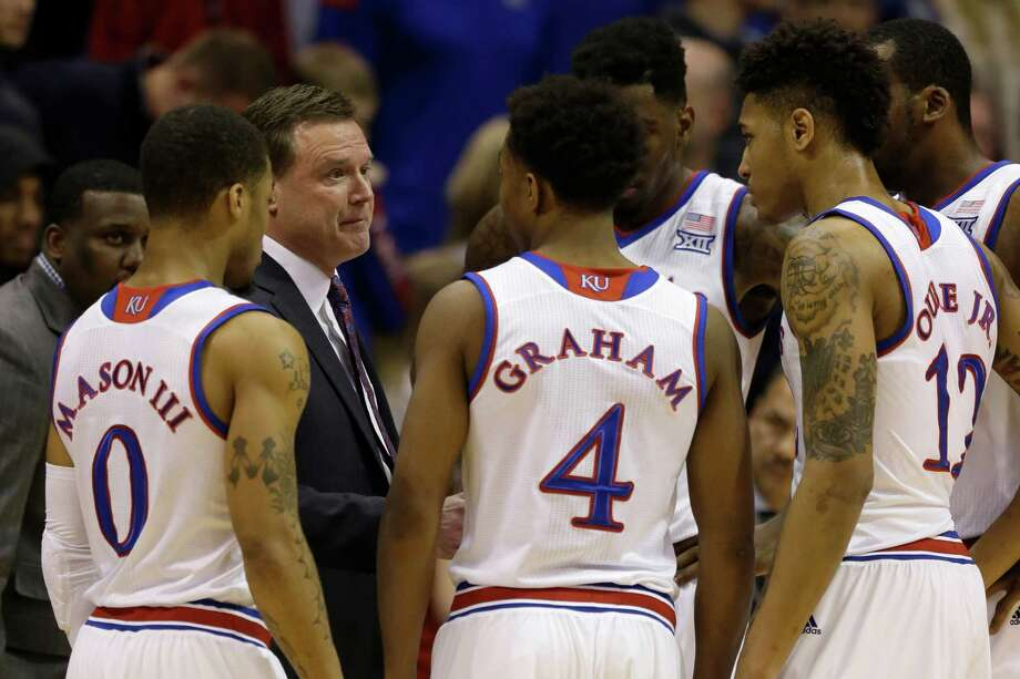 "Kansas again boasts a two-game lead in the standings, thus perpetuating the perception the Big 12 is ""Bill Self and the nine dwarfs."" Photo: Orlin Wagner, STF / AP"