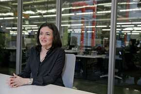 In this photo taken Tuesday Feb. 3, 2015, Facebook chief operating officer Sheryl Sandberg answers questions during an interview at Facebook headquarters in Menlo Park, Calif. A new Facebook and LinkedIn collaboration announced Friday, Feb. 6, 2015, seeks to boost the dwindling numbers of women studying engineering and computer science today, a field booming with lucrative Silicon Valley jobs long dominated by men. (AP Photo/Eric Risberg)