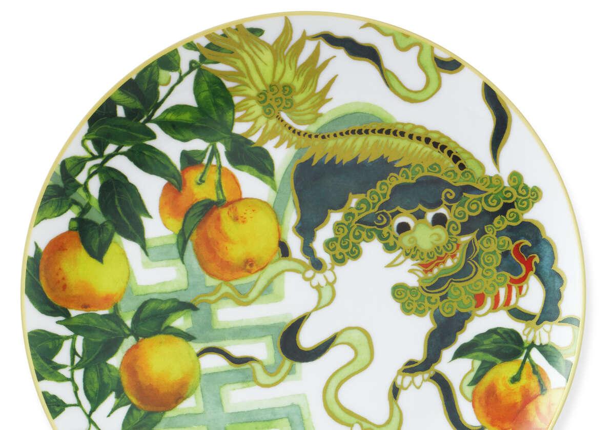 New Moon salad plate with dragon, $12.95, www.williams-sonoma.com.