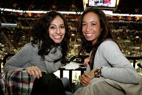 Fans cheered the Spurs as they faced the Heat in the team's last home game before the Rodeo Road Trip on Friday, Feb. 6, 2015, at the AT&T Center.