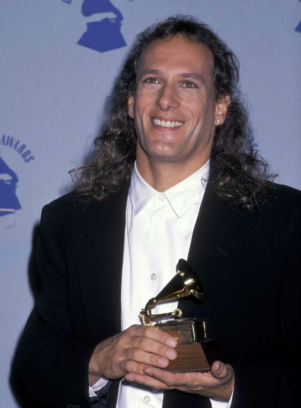 1990: Michael Bolton during The 32nd Annual GRAMMY Awards at Shrine Auditorium in Los Angeles.