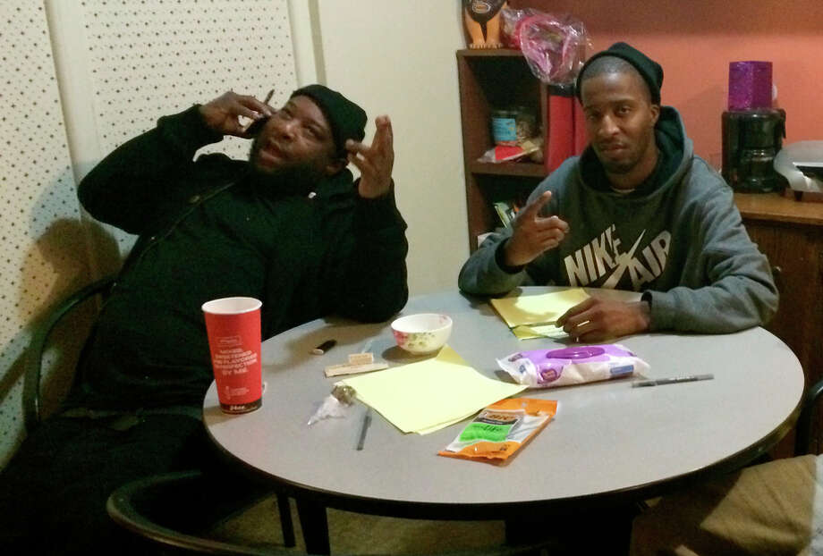 Jacka (left) and O-Zone at an Oakland recording studio. Jacka, who was raised in Pittsburg, was slain last week in Oakland. Photo: Courtesy Of Olandis Walker / Courtesy Of Olandis Walker / ONLINE_YES