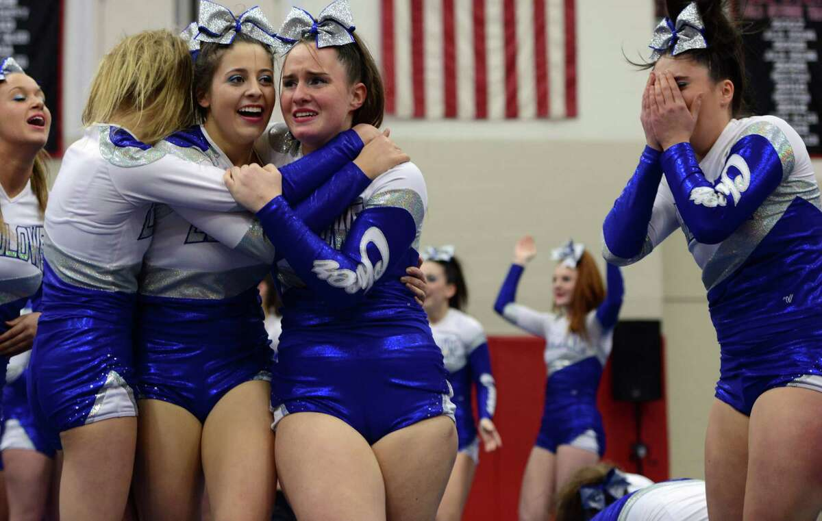 Scenes from the FCIAC Cheer Championships Saturday, Feb. 7, 2015, at Fairfield Warde High School.