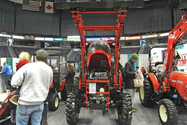 The JC Tractor of Hoosick Falls display at the Times Union Home Expo at the Times Union Center on Saturday Feb. 7, 2015 in Albany , N.Y.  (Michael P. Farrell/Times Union) Photo: Michael P. Farrell / 00030431A