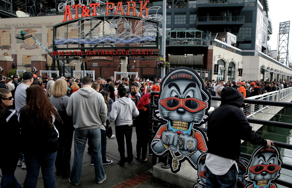Giants fans wait for the gates to open at FanFest in February. MLB has mandated tighter security at all ballparks this season.