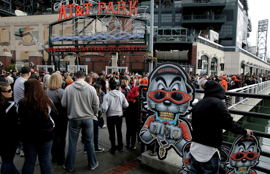 Giants fans wait for the gates to open at FanFest in February. MLB has mandated tighter security at all ballparks this season. Photo: Michael Macor / The Chronicle / ONLINE_YES