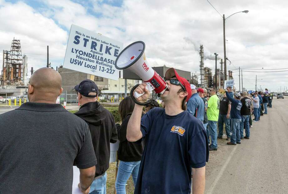 LyondellBasell's plant drew picketers last month. Local issues remain to be worked out. Photo: Craig Hartley, Freelance / Copyright: Craig H. Hartley