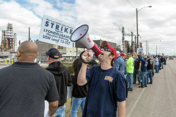 LyondellBasell's plant drew picketers last month. Local issues remain to be worked out.
