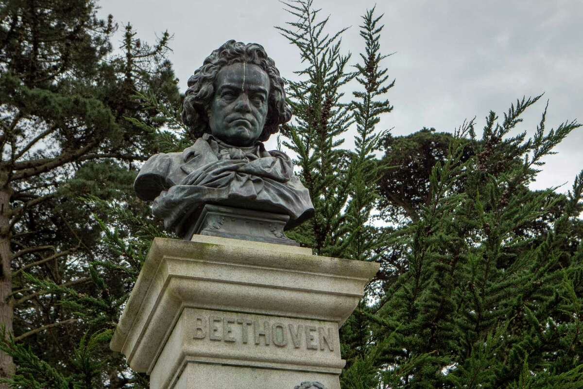 A bust of Beethoven is now outside the California Academy of Sciences in Golden Gate Park.