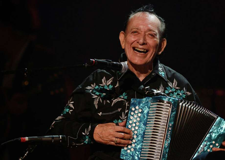 Flaco Jimenez performs during the Americana Music Honors and Awards show Wednesday, Sept. 17, 2014, in Nashville, Tenn. (AP Photo/Mark Zaleski) Photo: Mark Zaleski, FRE / Associated Press / FR170793 AP