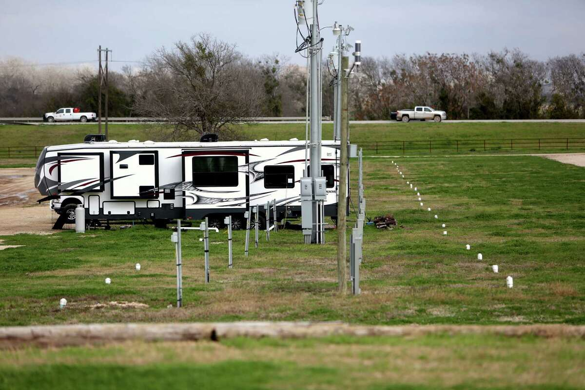 The downturn of oil field jobs in the Eagle Ford Shale area has left the J. B. Wells RV park, along U.S. 183 in Gonzales, practically empty. Only five recreational vehicles remained last week in the facility some 140 miles west of Houston that can hold as many as 400 units.