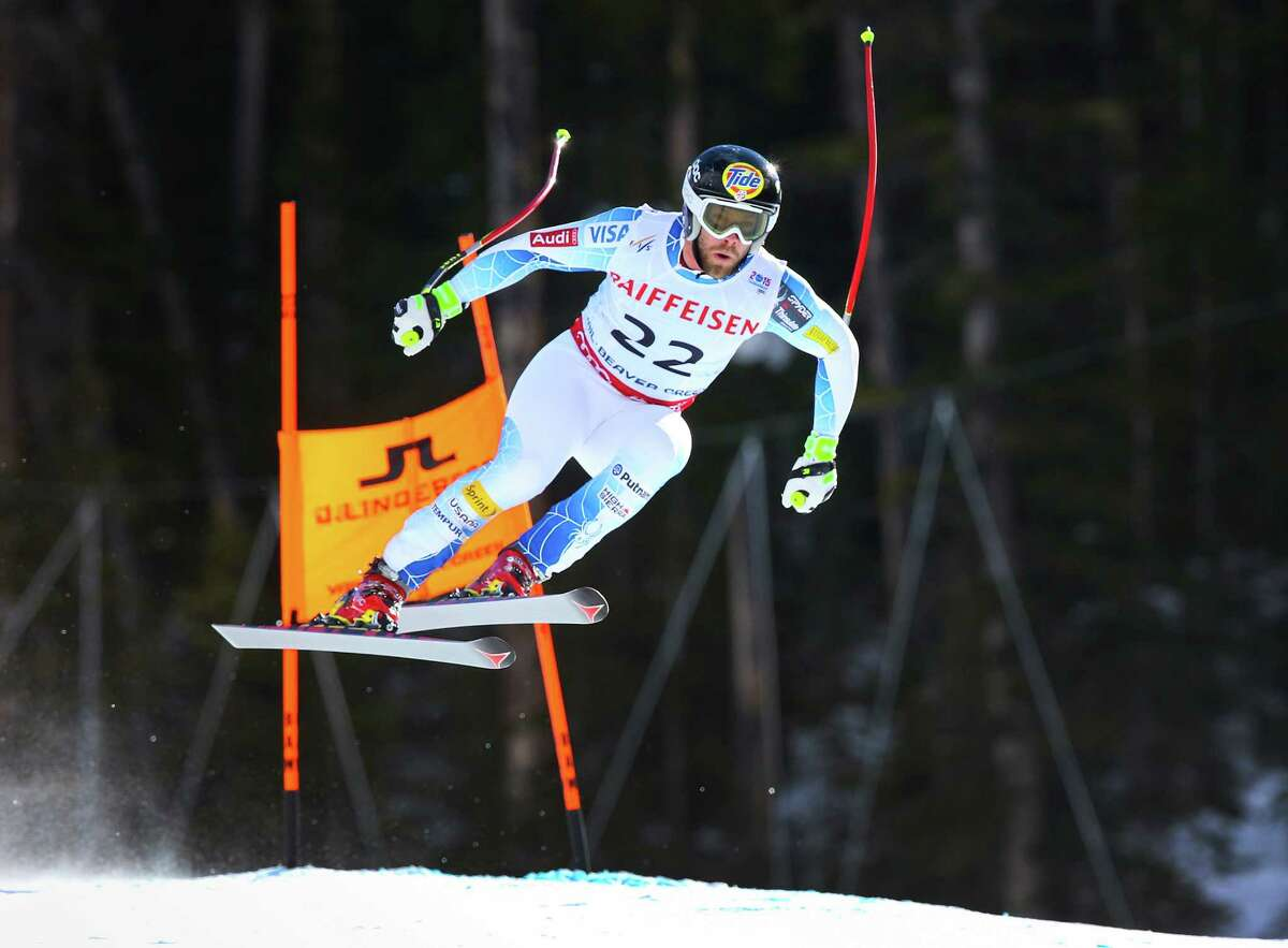 Travis Ganong of the U.S. competes in the menOs downhill at the Alpine World Ski Championships in Beaver Creek, Colo., Feb. 7, 2015. Ganong placed second and two other Americans placed in the top 10 of the event won by Patrick Kueng of Switzerland N a modest surprise with Bode Miller out after a bad crash on Thursday. (Doug Mills/The New York Times) ORG XMIT: XNYT57