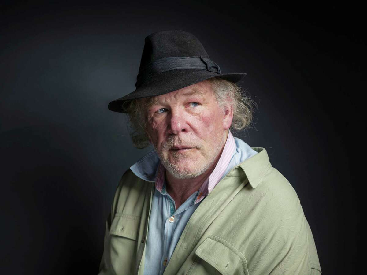 """Nick Nolte poses for a portrait to promote the film, """"A Walk in the Woods"""", at the Eddie Bauer Adventure House during the Sundance Film Festival on Saturday, Jan. 24, 2015, in Park City, Utah. (Photo by Victoria Will/Invision/AP) ORG XMIT: UTBR122"""