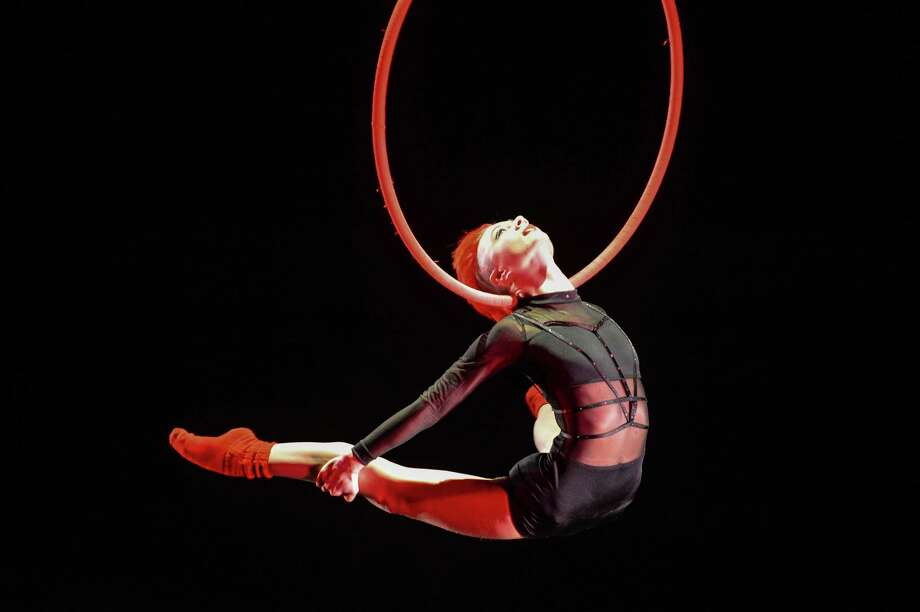 Aerialist Rebekah Burke performs on the Lyra at the 2015 U.S. Aerial Championship at Rose Nagelberg Theater on February 6, 2015 in New York City. Photo: Ray Tamarra, Getty Images / 2015 Ray Tamarra