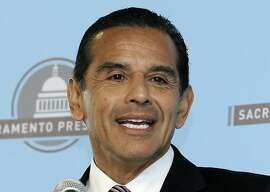 FILE - In this April 16, 2013 file photo, then Los Angeles Mayor Antonio Villaraigosa speaks before the Sacramento Press Club in Sacramento, Calif.  Villaraigosa is among those on a long list of possible contenders for U.S. Sen. Barbara Boxer's seat. Boxer announced in January that she would not seek a fifth term. (AP Photo/Rich Pedroncelli, File)