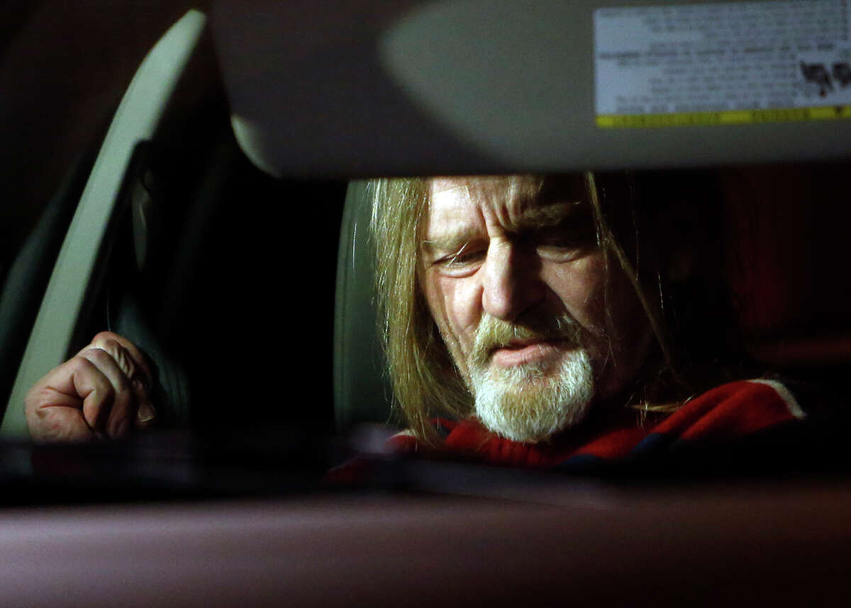 Mark Jeffrey Andrus, shown leaving county jail Tuesday, died at a hospital after going into septic shock, a source says.