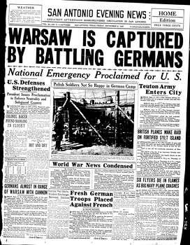 Sept. 8, 1939 Photo: Ipayan, Express-News File Photo