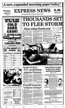 Sept. 10, 1984 Photo: Ipayan, Express-News File Photo