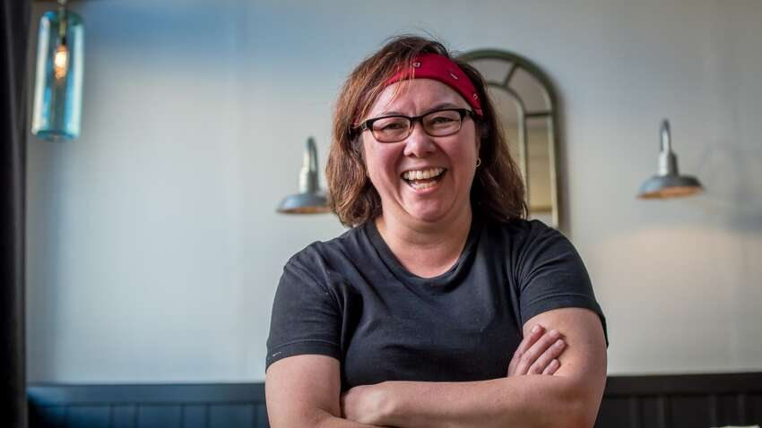 Chef/Owner Brenda Buenviaje of Brenda's Meat & Three in San Francisco, Calif., is seen on Thursday, January 29th, 2015.