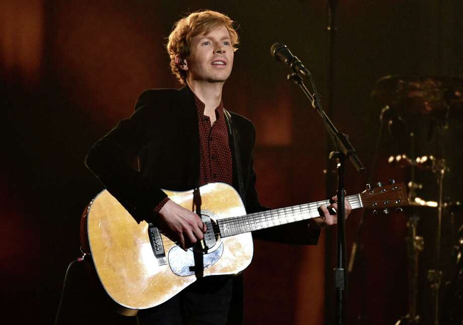 Beck performed at Saratoga Performing Arts Center on Monday. In this photograph, he performs at the 57th annual Grammy Awards on Sunday, Feb. 8, 2015, in Los Angeles. Keep clicking for more concerts coming soon. Photo: John Shearer / Invision