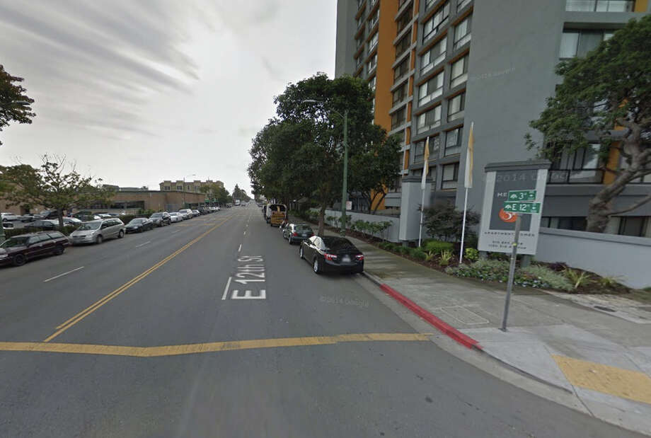 A man was shot and killed on the 300 block of East 12th Street in Oakland, CA. Photo: Google Maps