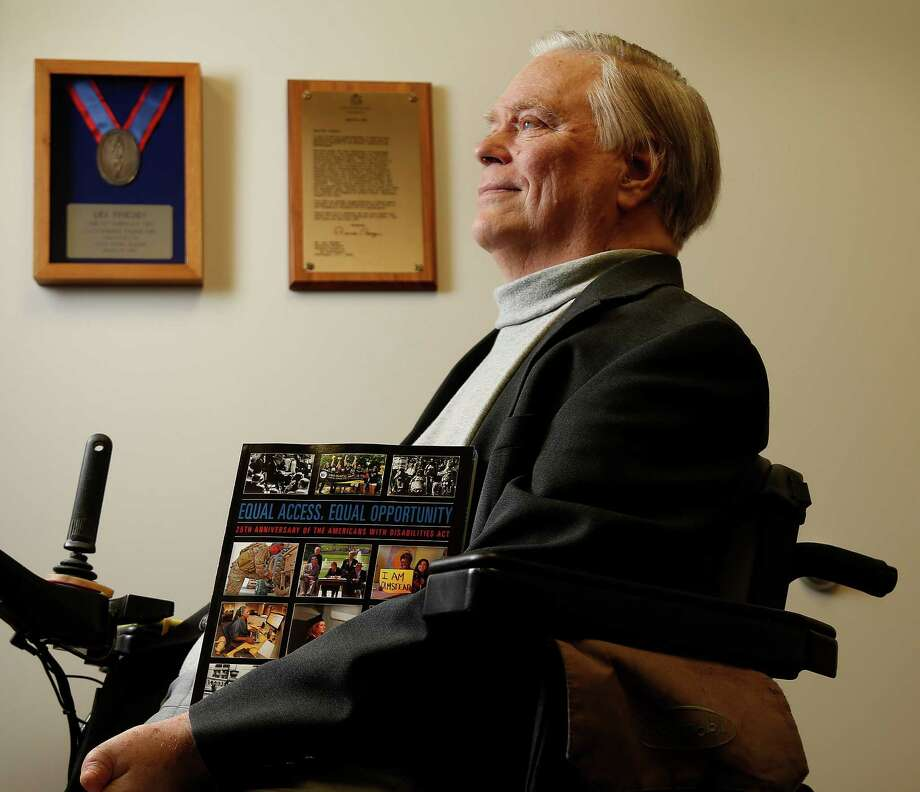 Lex Frieden has been an advocate for the rights of the disabled for most of his adult life. Photo: Karen Warren, Staff / © 2015 Houston Chronicle