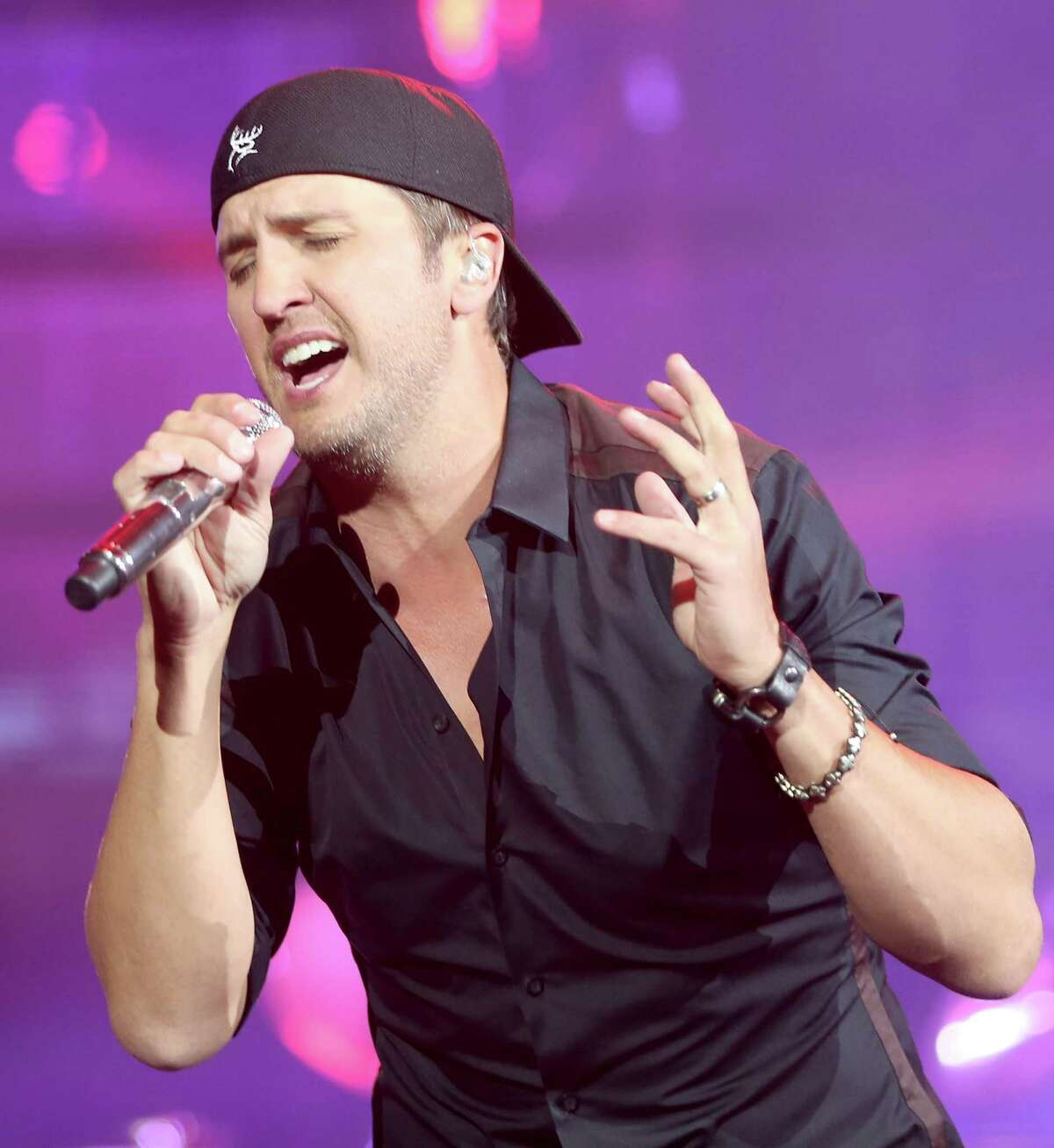 3/17/14: Country star Luke Bryan performs at the Houston Livestock Show and Rodeo in Houston, Texas.