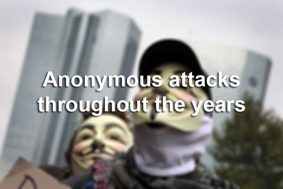 Click ahead to see noted Anonymous attacks throughout the years.