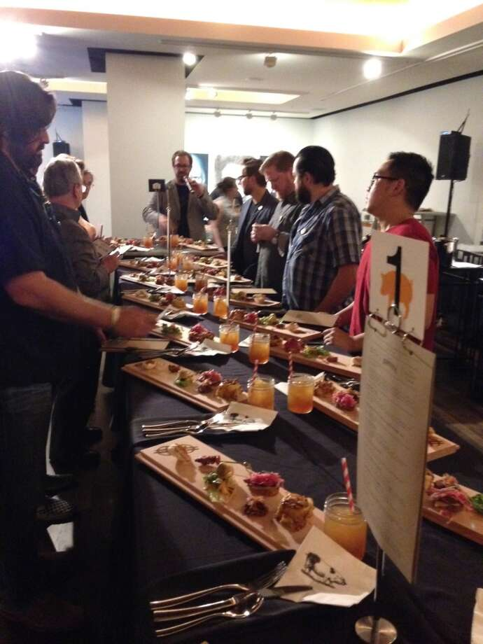 Houston chefs and food writers judged the Cochon555 competition held Feb. 8 at JW Marriott Houston Downtown. (Photo: Greg Morago)