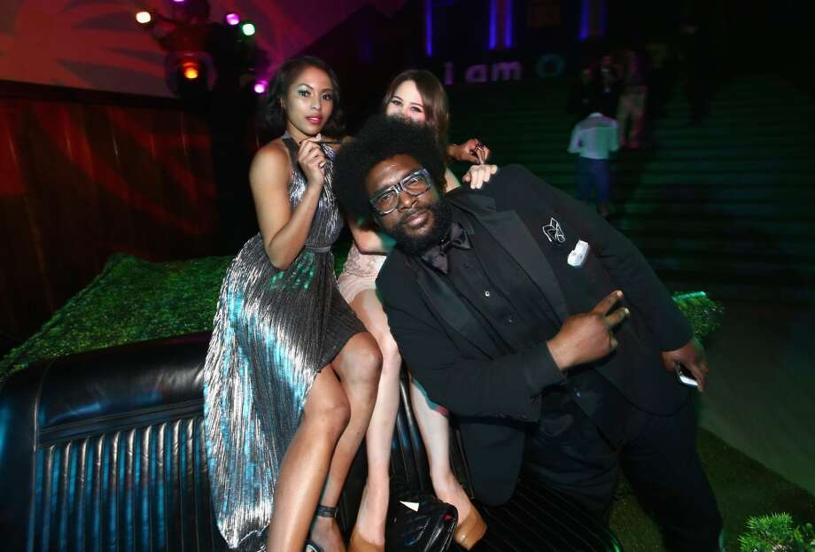 TV Personality Alicia Quarles (L) and recording artist/TV personality Questlove (R) attend the I am Other And Adidas' Grammy Party To Celebrate Pharrell Williams at Park Plaza Hotel on February 8, 2015 in Los Angeles, California.  (Photo by Christopher Polk/Getty Images for I am Other) Photo: Christopher Polk, Getty Images For I Am Other