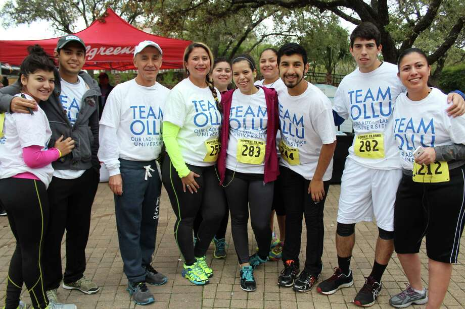 Runners raised money for the Cystic Fibrosis Foundation during the 30th annual Lone Star Tower Climb and Run at the Tower of the Americas on Saturday morning, Feb. 7, 2015. Photo: Yvonne Zamora/For MySA.com