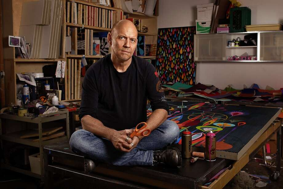 Artist Rex Ray in his San Francisco studio, where he spent his waking hours. Photo: Christiana Ceppas / ONLINE_YES
