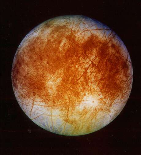 NASA said in March of last year that  it is making preparations to plan a robotic mission to Jupiter's watery moon Europa, a place where astronomers speculate there might be life. Photo: HOPD / NASA, Jet Propulsion Laboratory