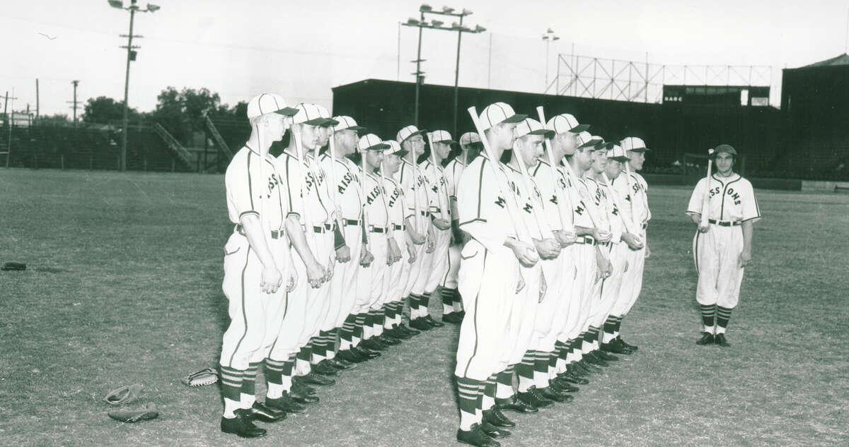 San Antonio using military drills in 1940 at Tech Field in San Antonio.