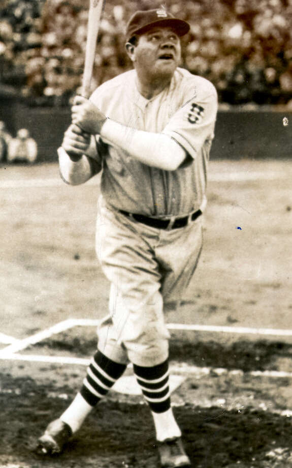 Babe Ruth is shown in this undated file photo. Ruth hit the 714th and final home run of his career, for the Boston Braves, in a game against the Pittsburgh Pirates. Photo: Associated Press / File Photo / EXPRESS-NEWS FILE PHOTO