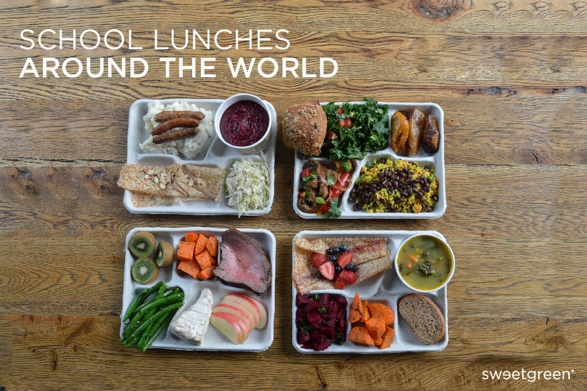 Sweetgreen , a seasonal kitchen restaurant located mostly on the East Coast, put together average lunches in countries around the world. From veggies and fruit to meats and sweets, see how these school lunches can vary.