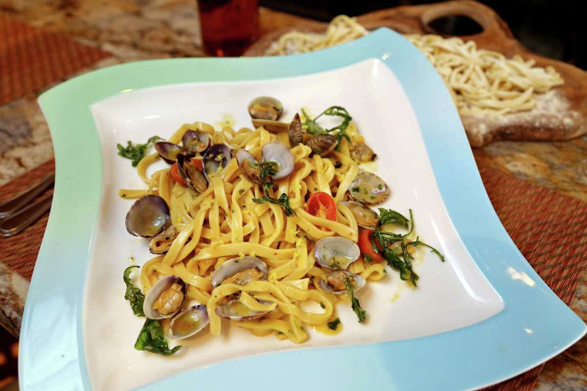 Amalfi Ristorante Italiano & Bar will participate in Houston's first Italian Restaurant Week, Nov. 14-20.  Shown: Scialatielli Cetarese: thick spaghetti with colatura fish sauce, Manila clams and lemon zest.