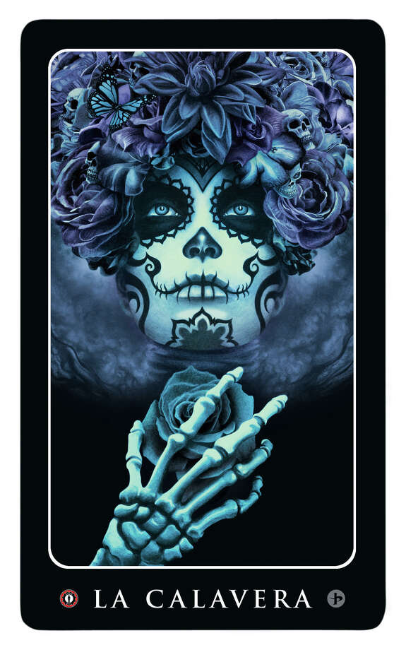 """Picacio plans to illustrate all 54 icons of lotería, such as """"La Calavera"""" (""""The Skull,"""" pictured). Photo: Provided By John Picacio - Art © John Picacio. All Rights Reserved."""