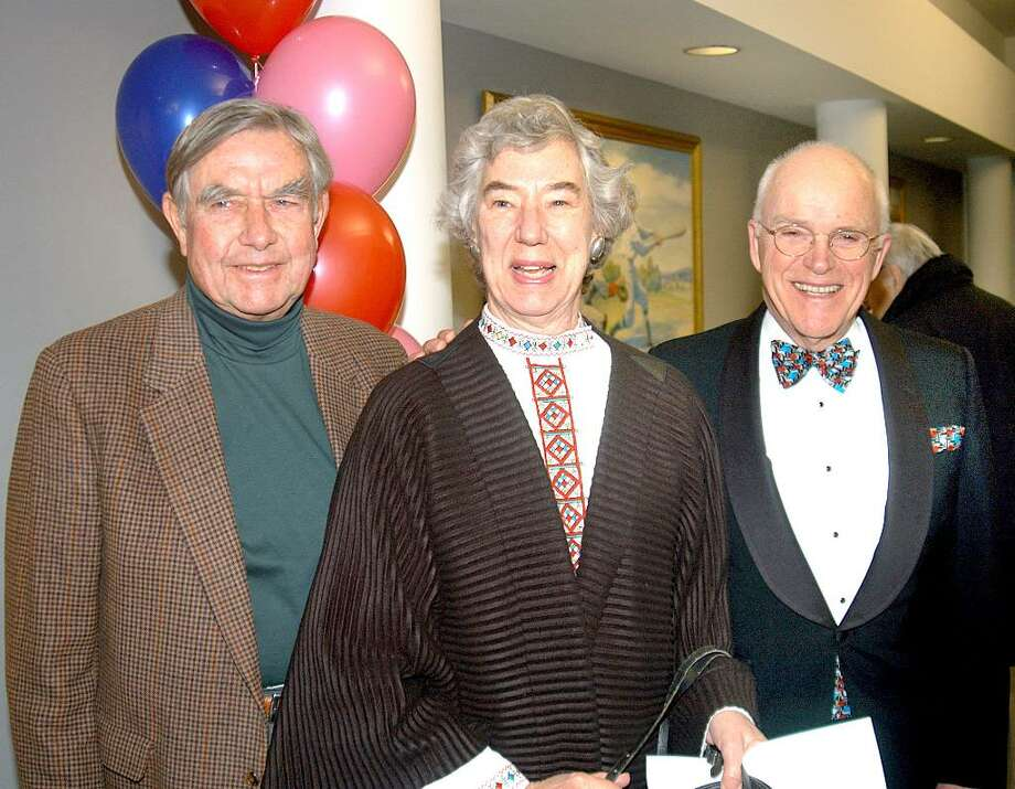Greenwich residents Webb Williams, Sallie Williams and Bob Luce, Greenwich Choral Society chairman, were among the 700 music fans who showed up for the GCS's Valentine's Day benefit concert, which raised more than $18,000. Photo: Contributed Photo / Greenwich Citizen