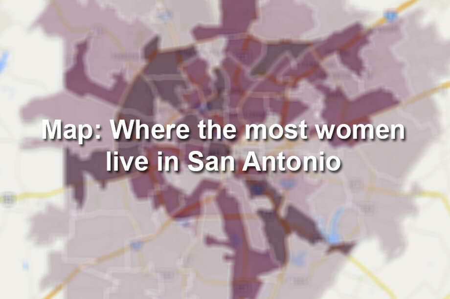 Click through to see the ten San Antonio ZIP codes with the most women. Photo: Map Created By Chris Eudaily