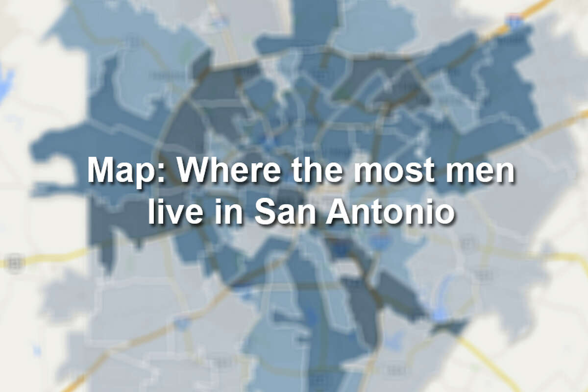 Click through to see the ten San Antonio ZIP codes with the most men.