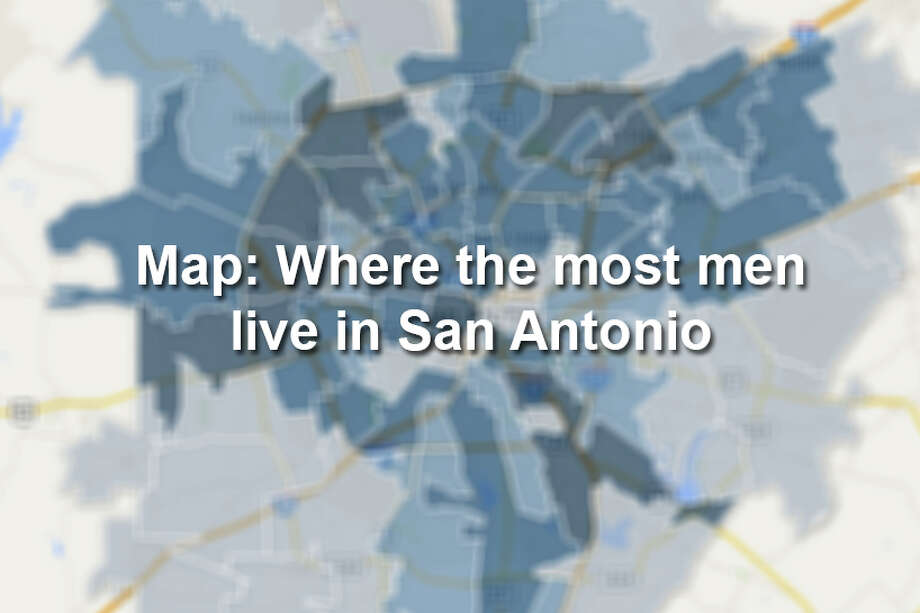 Click through to see the ten San Antonio ZIP codes with the most men. Photo: Map Created By Chris Eudaily