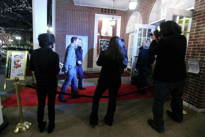 Guests arrive on the red carpet as the Avon Theater Film Center presents