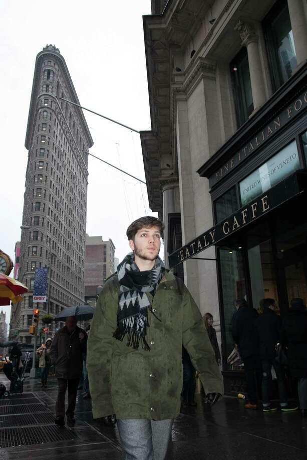 German volunteer Linus Jansen in Manhattan. Photo: Aaron Olivo, Contributed Photo / Greenwich Time Contributed