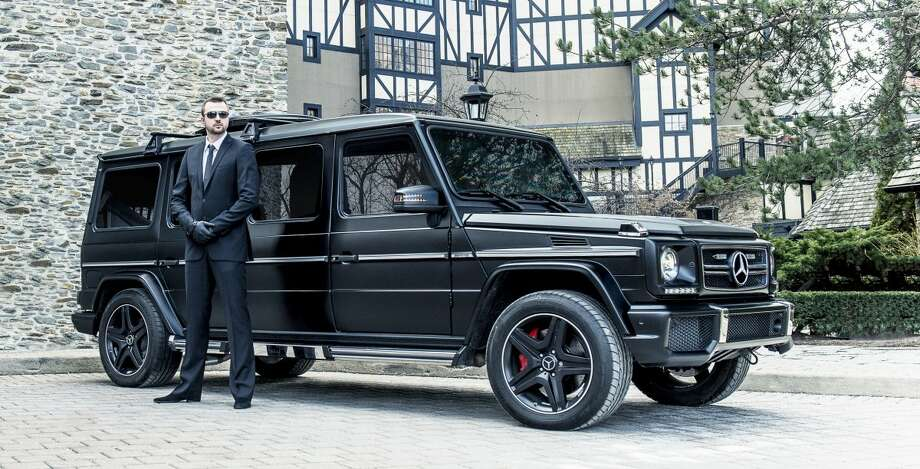 The Inkas-modified G63 AMG limo is truly menacing. Finished in matte black, the stretch limo dares to be messed with. Photo: Business Insider