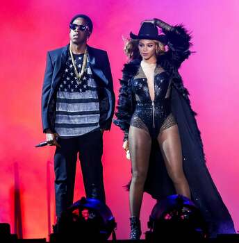 Beyonce and JAY Z perform on the On The Run Tour at the Minute Maid Park. Photo: Aaron M. Sprecher/PictureGroup