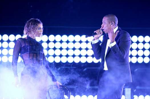 "Beyonce, left, and Jay Z performing ""Drunk in Love"" at the 2014 Grammy Awards. Photo: Matt Sayles, Associated Press"