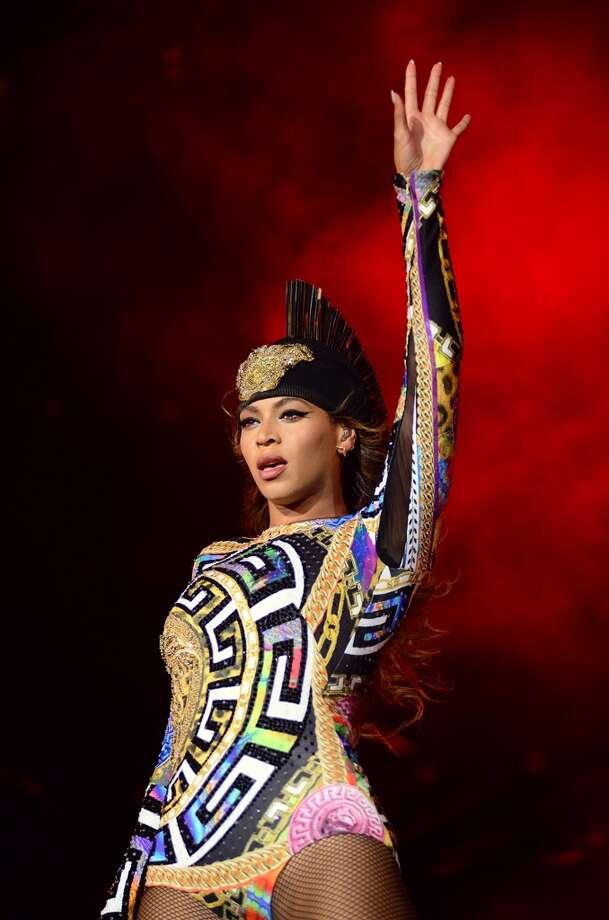 Beyonce onstage. Photo: Mason Poole, Associated Press