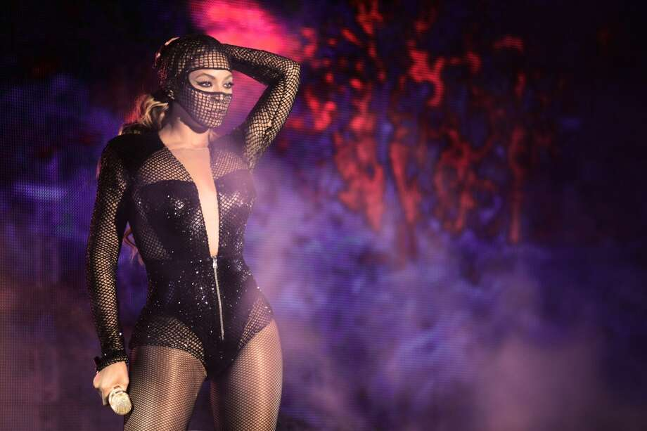 Beyonce onstage. Photo: Mason Poole, Associated Press