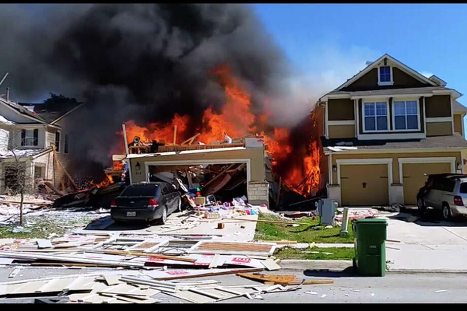 A large explosion in a neighborhood in Boerne sparked a multi-home fire in the San Antonio suburb on Tuesday, according to multiple media reports. Photo: Facebook Reader